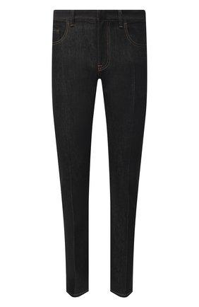 Мужские джинсы ERMENEGILDO ZEGNA черного цвета, арт. UWL03/JL01 | Фото 1 (Материал внешний: Хлопок; Стили: Кэжуэл; Длина (брюки, джинсы): Стандартные; Силуэт М (брюки): Прямые; Кросс-КТ: Деним)