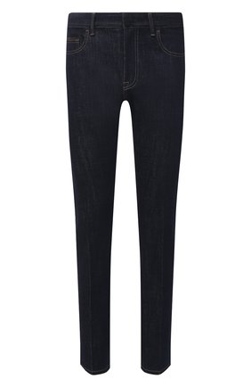 Мужские джинсы ERMENEGILDO ZEGNA темно-синего цвета, арт. UWL02/JL01 | Фото 1 (Силуэт М (брюки): Прямые; Длина (брюки, джинсы): Стандартные; Кросс-КТ: Деним; Материал внешний: Хлопок; Стили: Кэжуэл)