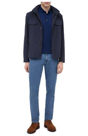Мужские джинсы ERMENEGILDO ZEGNA голубого цвета, арт. UWI70/JS01 | Фото 2