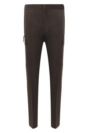 Мужские брюки-карго из хлопка и льна ERMENEGILDO ZEGNA хаки цвета, арт. UWI03/TT21 | Фото 1