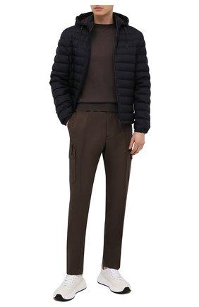 Мужские брюки-карго из хлопка и льна ERMENEGILDO ZEGNA хаки цвета, арт. UWI03/TT21 | Фото 2