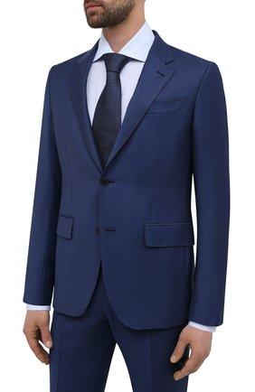 Мужской шерстяной костюм ERMENEGILDO ZEGNA синего цвета, арт. 922563/22FTKY | Фото 2
