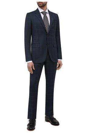 Мужской шерстяной костюм ERMENEGILDO ZEGNA темно-синего цвета, арт. 922030/221225 | Фото 1