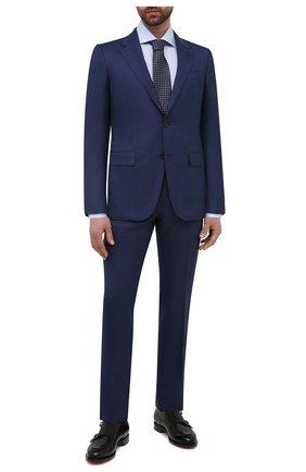 Мужской костюм из шерсти и шелка ERMENEGILDO ZEGNA синего цвета, арт. 916526/221225 | Фото 1