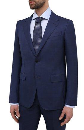 Мужской костюм из шерсти и шелка ERMENEGILDO ZEGNA синего цвета, арт. 916526/221225 | Фото 2