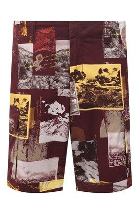 Мужские хлопковые шорты Z ZEGNA разноцветного цвета, арт. VW155/ZZ359 | Фото 1 (Материал внешний: Хлопок; Длина Шорты М: До колена; Принт: С принтом; Мужское Кросс-КТ: Шорты-одежда; Стили: Кэжуэл)