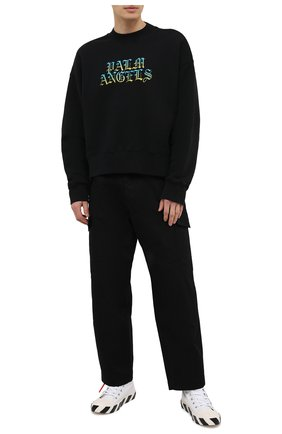 Мужской хлопковый свитшот PALM ANGELS черного цвета, арт. PMBA026R21FLE0041084 | Фото 2
