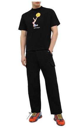 Мужская хлопковая футболка PALM ANGELS черного цвета, арт. PMAA001R21JER0101030 | Фото 2