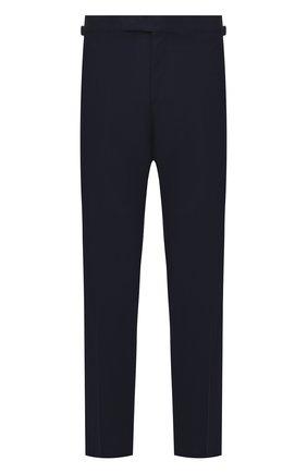 Мужские шерстяные брюки TOM FORD темно-синего цвета, арт. 911R03610043 | Фото 1