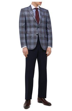 Мужские шерстяные брюки TOM FORD темно-синего цвета, арт. 911R03610043 | Фото 2