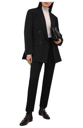 Женские комбинированные челси DOLCE & GABBANA черного цвета, арт. CT0624/AJ861 | Фото 2