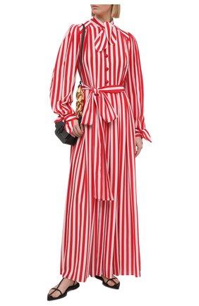 Женское шелковое платье DOLCE & GABBANA красного цвета, арт. F6H2DT/IS1AM | Фото 2