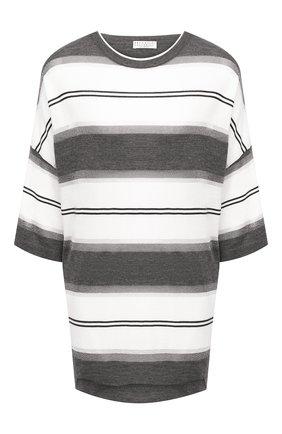 Женский шерстяной пуловер BRUNELLO CUCINELLI серого цвета, арт. M14819200 | Фото 1