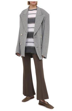 Женский шерстяной пуловер BRUNELLO CUCINELLI серого цвета, арт. M14819200 | Фото 2