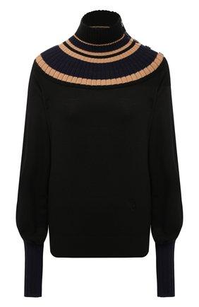 Женский шерстяной пуловер CHLOÉ разноцветного цвета, арт. CHC21SMP76520   Фото 1