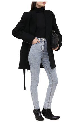 Женские джинсы BALMAIN голубого цвета, арт. VF15460/D097 | Фото 2