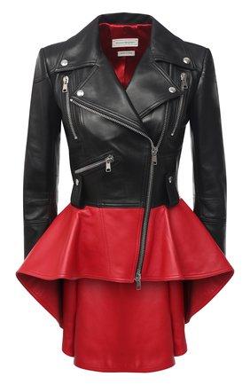 Женская кожаная куртка ALEXANDER MCQUEEN черного цвета, арт. 650210/Q5AFQ | Фото 1
