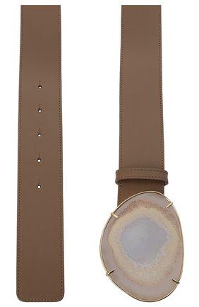 Женский кожаный ремень GIORGIO ARMANI коричневого цвета, арт. Y1I248/YSB3A | Фото 2 (Материал: Кожа)