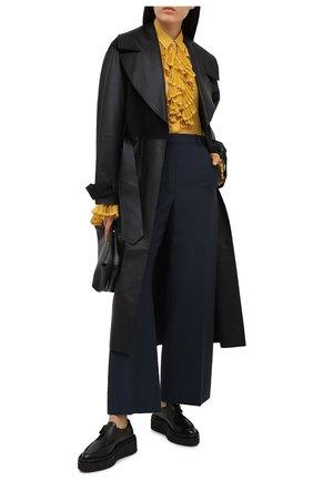 Женские шерстяные брюки LANVIN темно-синего цвета, арт. RW-TR528U-4794-P21 | Фото 2
