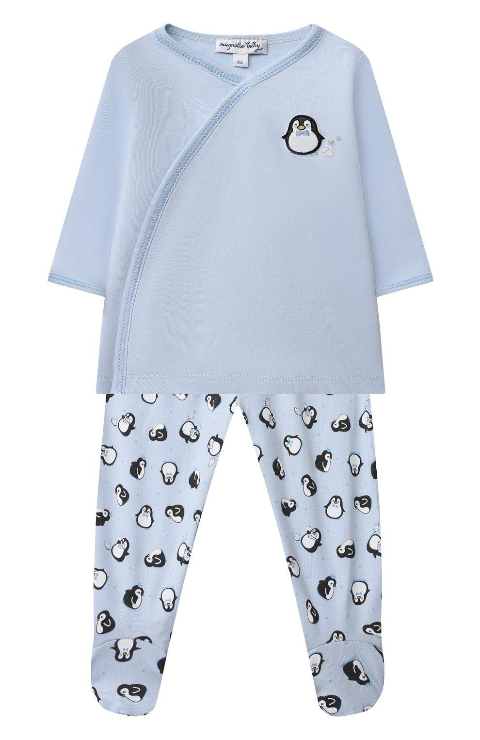 Детский комплект из распашонки и ползунков MAGNOLIA BABY голубого цвета, арт. 788-735P-LB   Фото 1