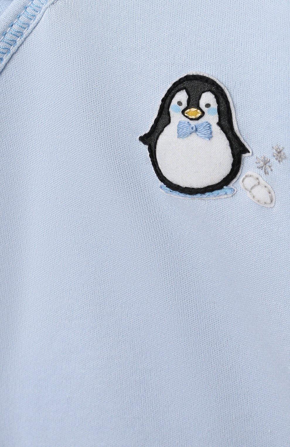 Детский комплект из распашонки и ползунков MAGNOLIA BABY голубого цвета, арт. 788-735P-LB   Фото 6