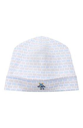 Детского хлопковая шапка MAGNOLIA BABY голубого цвета, арт. 974-50-LB | Фото 1