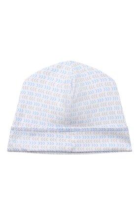 Детского хлопковая шапка MAGNOLIA BABY голубого цвета, арт. 974-50-LB | Фото 2