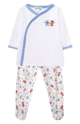 Детский комплект из распашонки и ползунков MAGNOLIA BABY голубого цвета, арт. 974-735P-LB | Фото 1