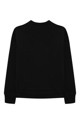 Детский хлопковый свитшот N21 черного цвета, арт. N21078/N0155/N21S72F | Фото 2