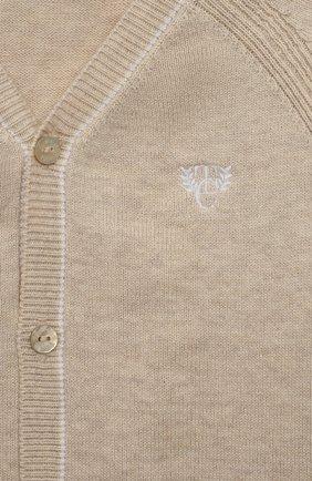 Детский хлопковый кардиган TARTINE ET CHOCOLAT бежевого цвета, арт. TS18131/1M-1A | Фото 3