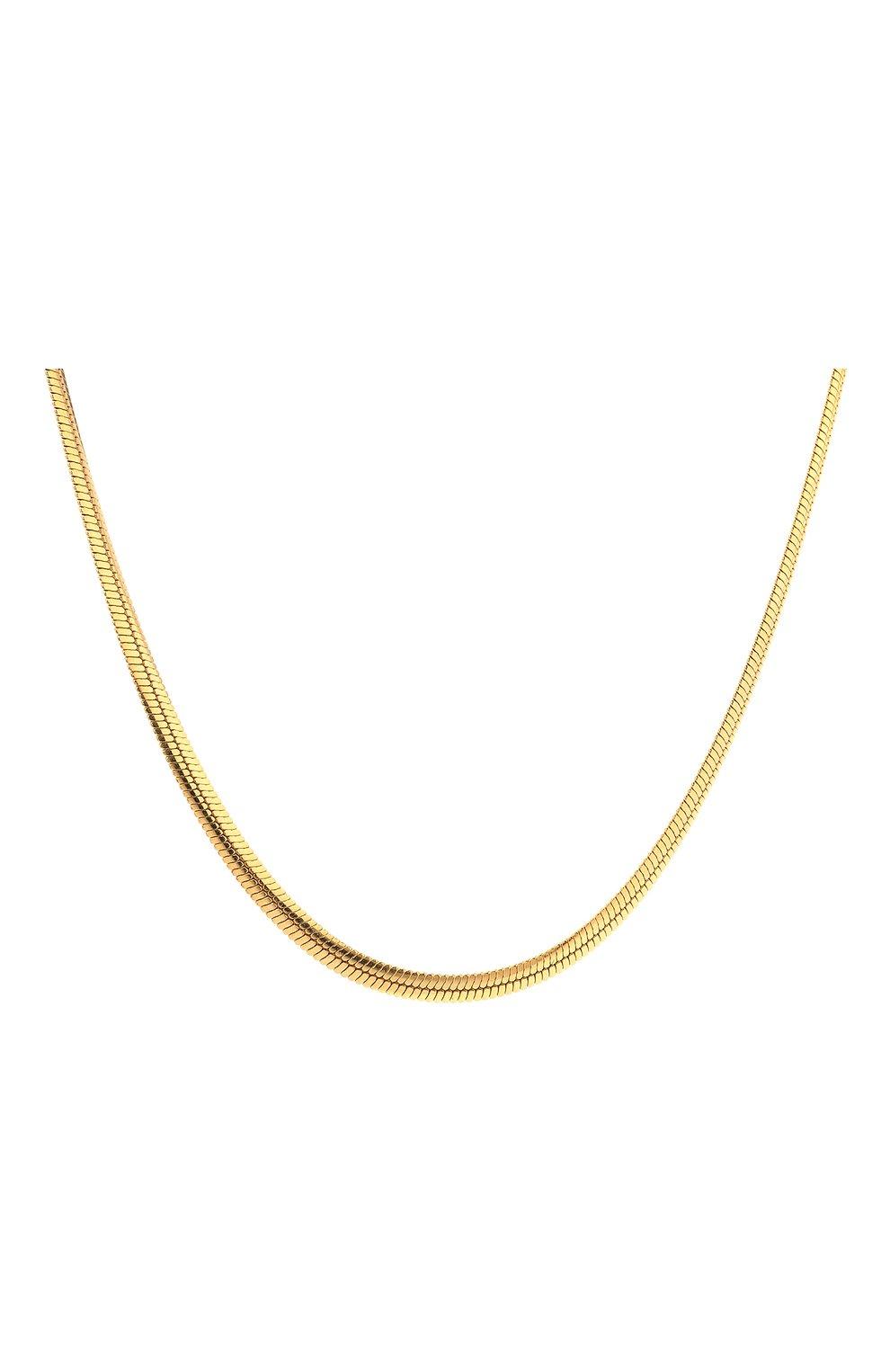 Женское цепь JEWLIA золотого цвета, арт. НЦ 22-097-6   Фото 2 (Материал: Серебро)