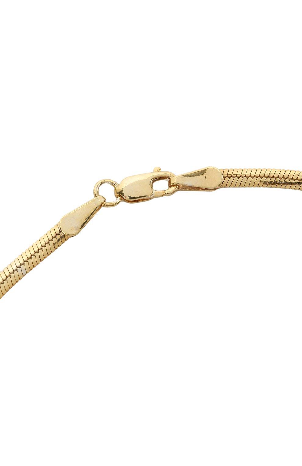 Женское цепь JEWLIA золотого цвета, арт. НЦ 22-097-6   Фото 3 (Материал: Серебро)