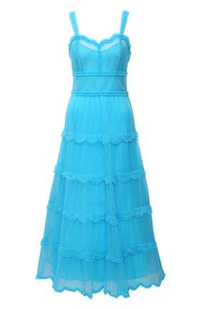 Женское платье FENDI синего цвета, арт. FDA852 AC6V | Фото 1