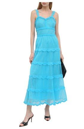 Женское платье FENDI синего цвета, арт. FDA852 AC6V | Фото 2