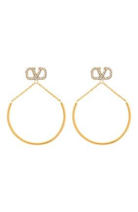Женские серьги valentino garavani VALENTINO золотого цвета, арт. VW2J0H30/YCW | Фото 1