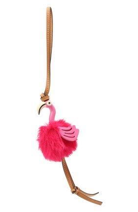 Женский брелок flamingo charm LOEWE фуксия цвета, арт. C831232X05 | Фото 1