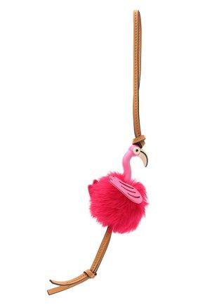 Женский брелок flamingo charm LOEWE фуксия цвета, арт. C831232X05 | Фото 2