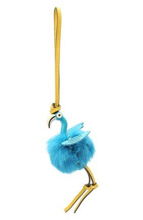 Женский брелок flamingo charm LOEWE голубого цвета, арт. C831232X05 | Фото 1