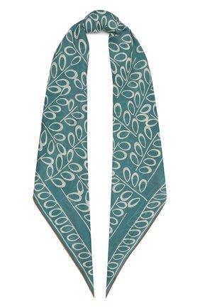 Женская шаль из кашемира и шелка LORO PIANA синего цвета, арт. FAI9006   Фото 1