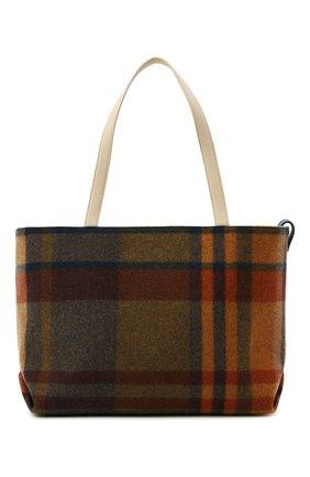 Женский сумка-шопер inside out LORO PIANA разноцветного цвета, арт. FAL4553 | Фото 1 (Сумки-технические: Сумки-шопперы; Ошибки технического описания: Нет ширины; Размер: medium; Материал: Текстиль)