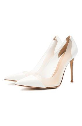 Женские комбинированные туфли plexi GIANVITO ROSSI белого цвета, арт. G20140.15RIC.VGLBIBI | Фото 1