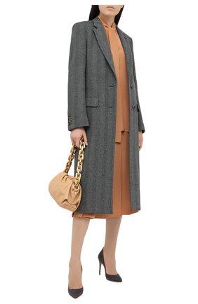 Женские замшевые туфли ellipsis GIANVITO ROSSI серого цвета, арт. G20730.15RIC.CAMLAPI | Фото 2