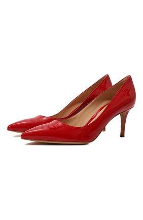 Женские кожаные туфли gianvito 70 GIANVITO ROSSI красного цвета, арт. G26770.70RIC.VERTABS | Фото 1