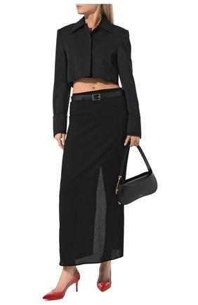 Женские кожаные туфли gianvito 70 GIANVITO ROSSI красного цвета, арт. G26770.70RIC.VERTABS | Фото 2
