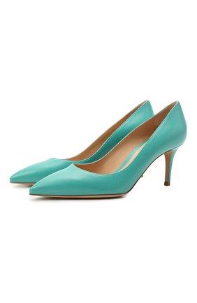 Женские кожаные туфли gianvito 70 GIANVITO ROSSI бирюзового цвета, арт. G26770.70RIC.VITMALE | Фото 1