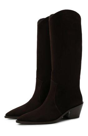 Женские замшевые сапоги GIANVITO ROSSI коричневого цвета, арт. G73329.45CU0.CASM0KA | Фото 1