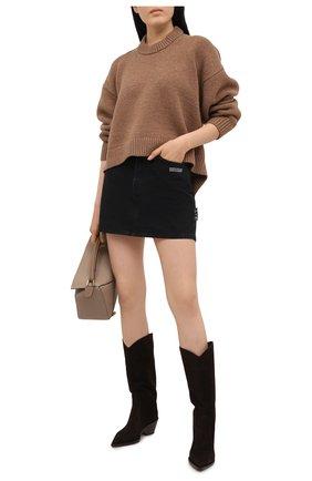 Женские замшевые сапоги GIANVITO ROSSI коричневого цвета, арт. G73329.45CU0.CASM0KA | Фото 2