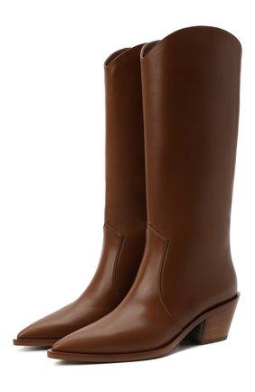 Женские кожаные сапоги GIANVITO ROSSI коричневого цвета, арт. G73329.45CU0.CLNCU0I | Фото 1