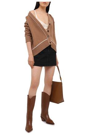 Женские кожаные сапоги GIANVITO ROSSI коричневого цвета, арт. G73329.45CU0.CLNCU0I | Фото 2