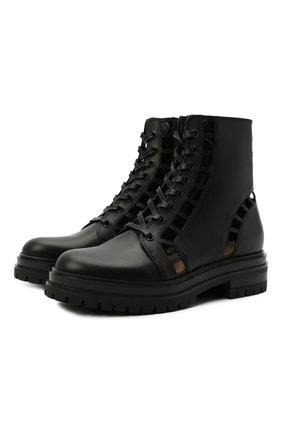 Женские кожаные ботинки GIANVITO ROSSI черного цвета, арт. G73368.20G0M.CLNNER0 | Фото 1